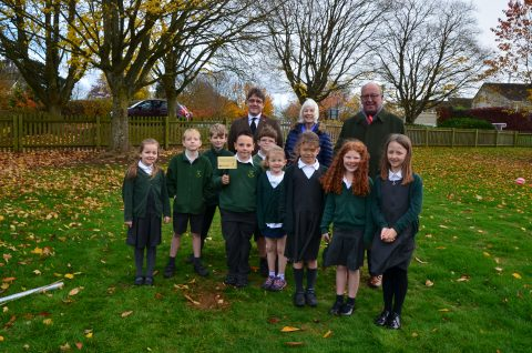 Planting of Tree of Remembrance at Wychwood Primary School, Shipton Under Wychwood Parish Council